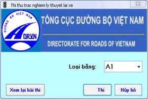 Thi sát hạch lái xe máy A1, A2 Online